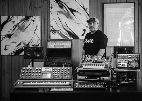 Kevin in the studio